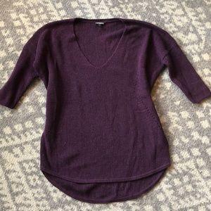 NWOT express sparkle knit sweater size M